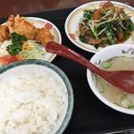 餃子の王将 - ジャストサイズセット(¥820)