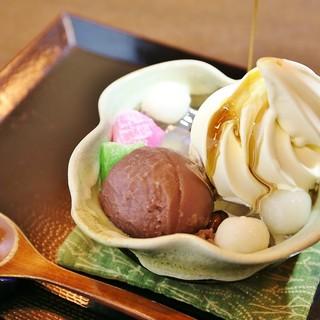 元和菓子職人のこだわりが詰まった絶品「クリーム白玉あんみつ」
