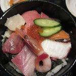 やるき茶屋 - 海鮮丼上から
