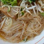 バンコク屋台 カオサン - コラーゲン豚香味湯麺(クィッティアオ・ムー・トゥン)ミニガパオセット 960円