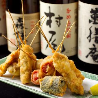 当店の自慢は串揚げ・新鮮魚・九州料理!!ぜひご堪能ください!