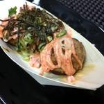 たこっぺ - 明太マヨに醤油と刻み海苔ですね。
