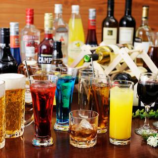 アルコール飲み放題メニューも多数。