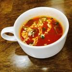68959797 - ランチセットのトマトスープ