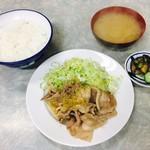 伊勢屋食堂 - 豚バラ生姜焼き定食(700円)