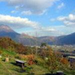 檪の丘 - テラスから見た由布院盆地