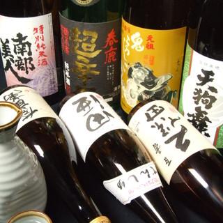 上司やゲストも喜ぶ☆拘りの焼酎・日本酒などご用意しております