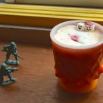 セカンド バナナ - 春限定の塩さくらカフェオレ