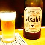 北陸集らく - アサヒスーパードライ(中瓶)
