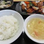 にい好!朋友 - ご飯ととろみかき玉スープ。