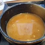 麺屋 から草 - スープ割りしたつけ汁(2017年6月22日)