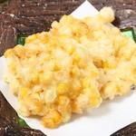 食彩 市 - トウモロコシと小柱のかき揚げ
