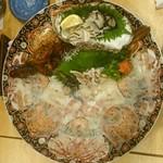 割烹 福源 - オコゼと岩ガキ