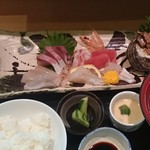 割烹 福源 - 刺身定食 ¥1620