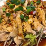 68967491 - 日替りランチの「蒸し鶏肉(辛口)(750円)」