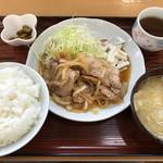 谷田部東PA(下り線) スナックコーナー - 料理写真:生姜焼定食