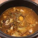 Spice&Sweets KAJU - キーマスープカレー+トッピング(MIXチーズ+生卵)