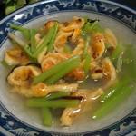 松ノ木 - 新鮮なホヤと山菜ミズの組み合わせはとても美味しい!