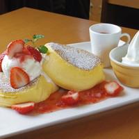 茶寮 煉 - 季節限定スフレホットケーキ