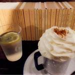 青山文庫 - ウインナーコーヒー 生クリームはすごく甘いです。加糖かな。