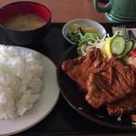 大益ドライブイン - 豚ローススタミナ焼き定食(ガッツスペシャル)