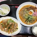 紅福酒家 - 料理写真:冷やし坦々麺&油淋鶏セット
