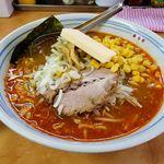 68978591 - 北海道ラーメン 赤レンガ(オロチョン800円+バターコーン250円)