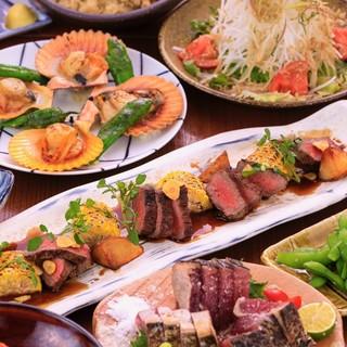 旬を大切にした和洋、創作料理がたのしめます