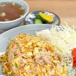 七面鳥 - メロン型が懐かしい焼飯(580円)