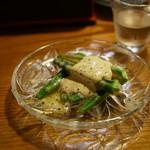 河童の川太郎 - オクラのマヨポン酢チーズ