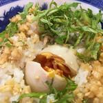 ぶっとび亭 - 刻み生姜とシソとベストな状態の半熟煮玉子ちゃんです❤️
