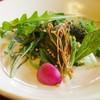 ろあん 松田 - 料理写真:自家製山椒オイルを用いたサラダ
