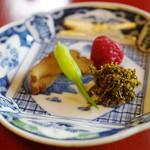 ろあん 松田 - 蕎麦湯のアテ
