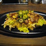 神戸 鉄飯屋 - 神戸牛 鉄板ステーキビーフライス 1,500円