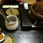 月亭 - 牛しゃぶ用の鍋