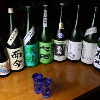 全国銘酒20種350円均一60ml日本酒飲み放題プランも!