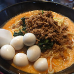 68992009 - 天竜坦々麺(1辛) + うずら卵トッピング ¥900
