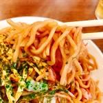 広野屋 - 平打ちの麺で山形では麺類のお店って自家製麺が殆どらしくこちらもお店の自家製麺!!