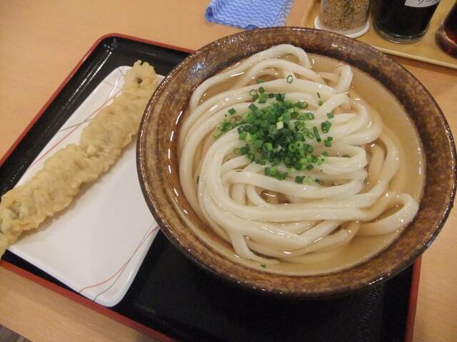 讃岐うどん 條辺 - ひやかけ2玉+穴子天 2010/9