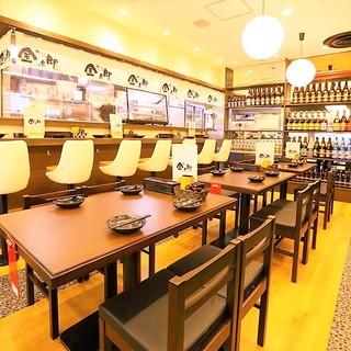 最大宴会人数は47名様まで対応可能なので梅田、大阪での宴会に