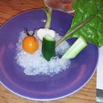 69001792 - お刺身盛合せ代わりのお野菜(笑)