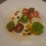 69004626 - 津別産トマト、豆腐とモッツァレラムース