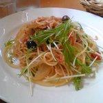 6901775 - 桜えびと水菜のアーリオオーリオ