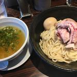 らーめん本竈 - 肉ゆず塩つけ麺  大盛り・味玉
