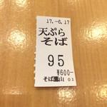 69013746 - この日は天ぷらブームがまだ続いていたので天ぷらそば&冷たいお蕎麦