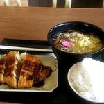 満旬屋 - そば定食完成500円。
