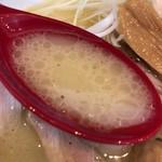 鶏 ソバ カモシ - 【2017年05月】鶏白湯塩のスープアップ。