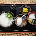 讃岐うどんの 七宝亭 - 【ミニ山かけ丼+みにうどん】特製甘口醤油で食べる、あっさりした定食