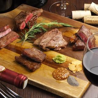 備長炭で焼く究極のステーキ