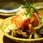 botan - めひかりと新玉葱の揚げたて南蛮漬け@700円